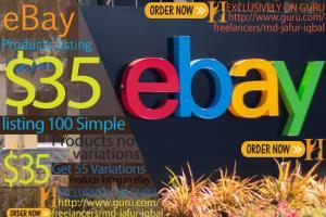 Portfolio for I will Do eBay listing 100 product