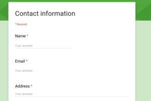 Portfolio for Google Form Creation