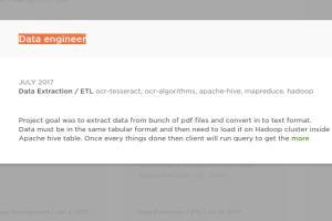 Portfolio for Sr. Bigdata Hadoop and Nosql developer
