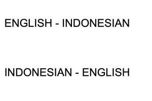 Portfolio for Translation: English-Indonesian