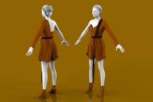 Portfolio for 3D Male / Female Cloth Modeling
