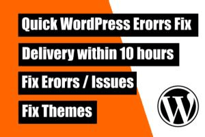 Portfolio for I will fix wordpress bug or error in 10