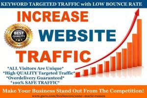 Portfolio for Provide Tier1 Keyword Targeted Traffic