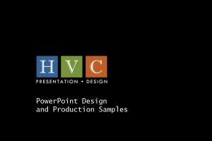 Portfolio for Presentation Design Services