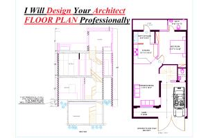 Portfolio for I ll Redraw your floor plan on Autocad