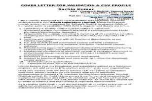 Portfolio for Computer System & Software Validation
