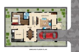 Portfolio for Colored Floor plans and Site plans