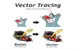Portfolio for Vector illustration, Vector Tracing