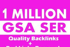 Portfolio for GSA 1M High quality SEO backlinks