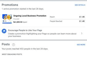 Portfolio for Facebook Advert and marketing manager