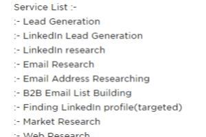 Portfolio for 100 Lead collected Pro Lead Generation