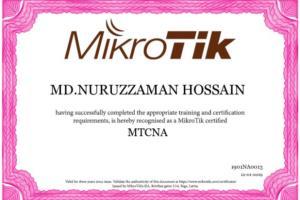 Portfolio for Network Engineer (Cisco&Mikrotik Router)