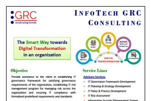Portfolio for Governance, Risk Management, Compliance