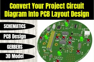 Portfolio for Design circuit board layout with Eagle