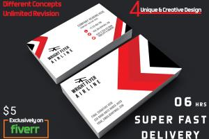 Portfolio for design  double sided business card