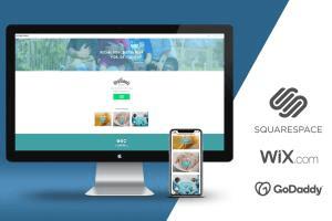 Portfolio for Creation of website in squarespace / wix