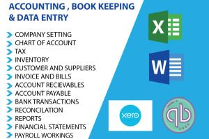 Portfolio for Bookkeeping on quick books and Xero
