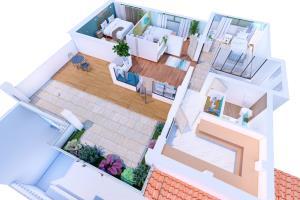 Portfolio for 3D modeling, 3D rendering, Floor plans