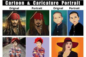 Portfolio for Amazing Cartoon Portraits in 24 hours