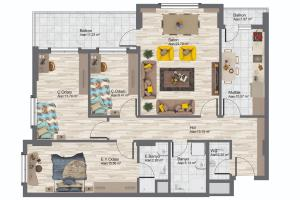 Portfolio for High Quality 2D Floor Plan Desing