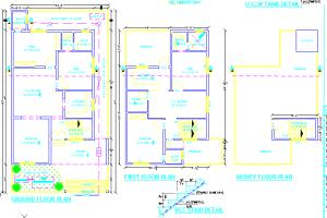 Portfolio for architectural drawing in Cad/ Autocad