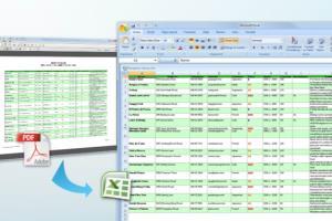 Portfolio for convert pdf to excel
