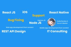 Portfolio for Node JS development or bug fixing