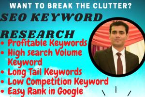 Portfolio for SEO Keyword Research, Competition Analys