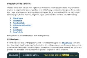 Portfolio for research writer