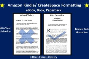 Portfolio for I will format your Book or eBook