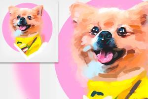 Portfolio for Awesome Pet portrait painting - HD 4k