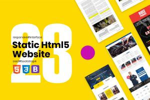 Portfolio for Html5 Bootstrap4 Landing Page