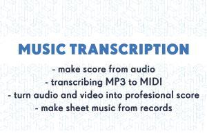 Portfolio for Music Transcription AUDIO to SCORE
