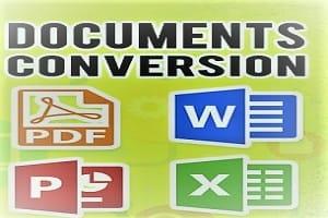 Portfolio for PDF to Word and Word to PDF JPG etc.