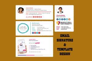 Portfolio for I will create a HTML email signature
