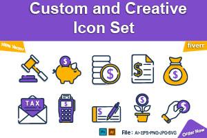 Portfolio for design awesome custom icon set