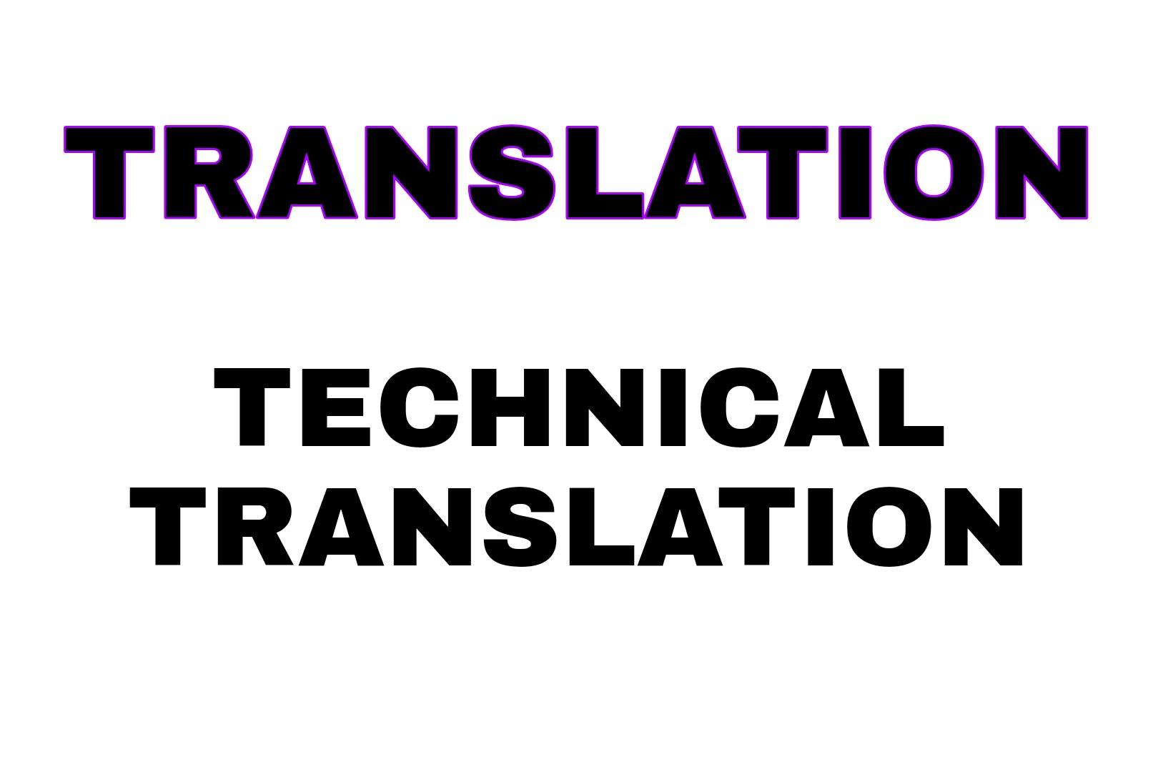 Portfolio for Translator, Technical translator