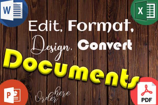Portfolio for Convert PDF to Word | PDF to Excel