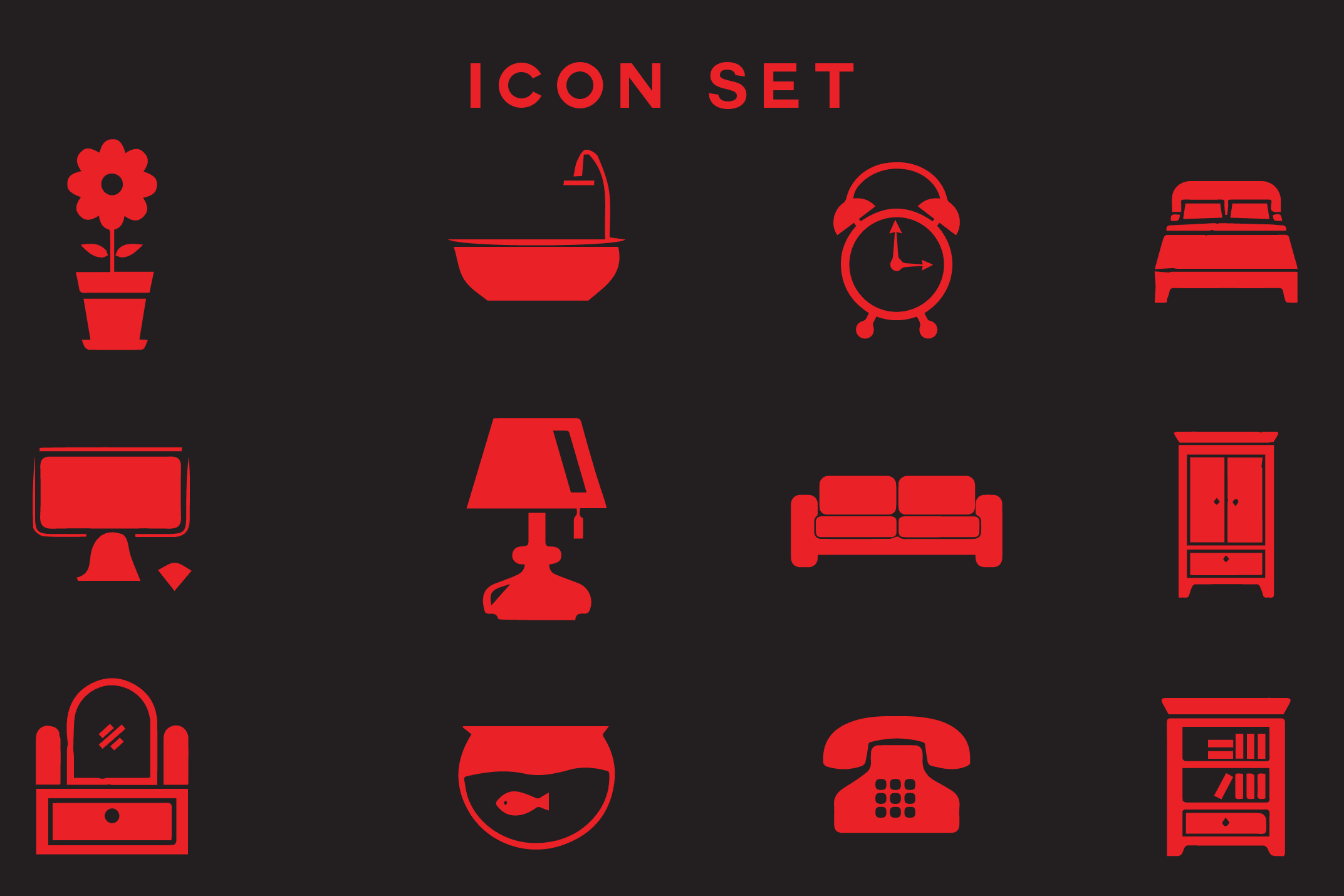 Portfolio for I will design color line icon set