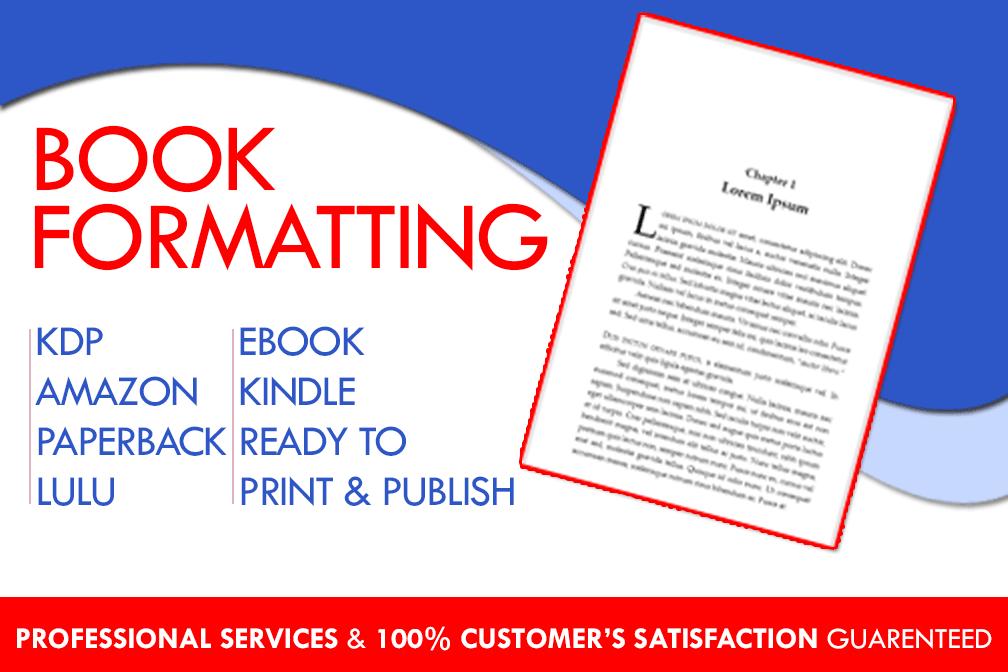 Portfolio for Book Formatting