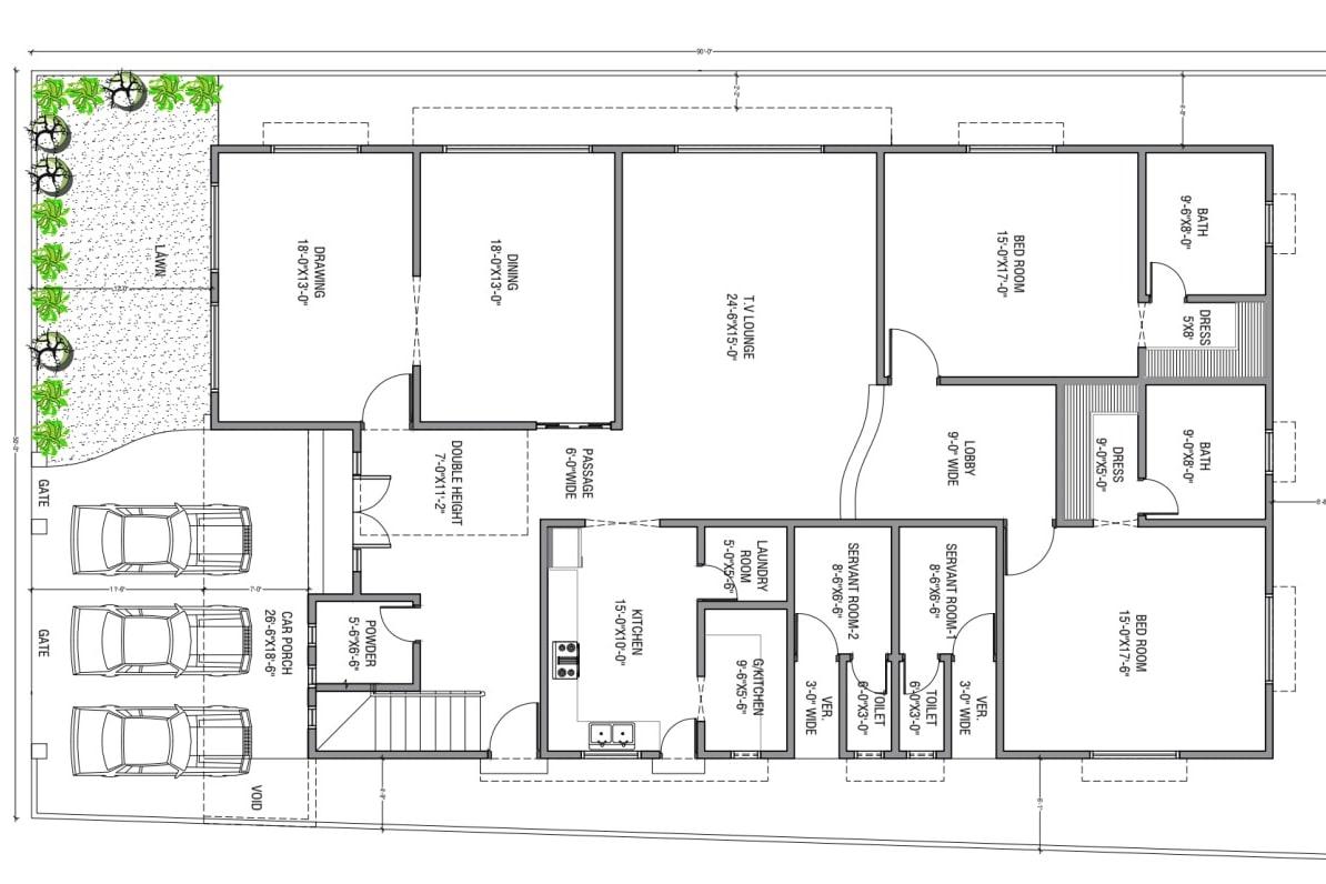 Portfolio for Architecture (2D) floor plan Design