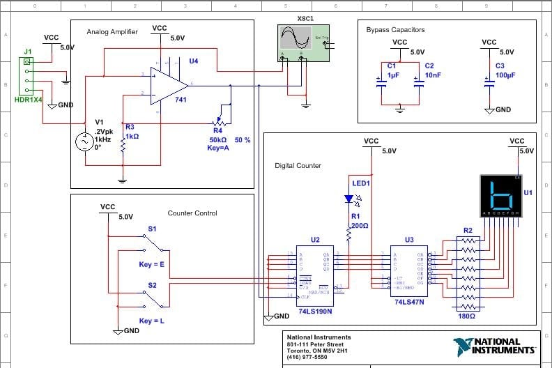 Portfolio for Circuits Simulation on Proteus, Multisim