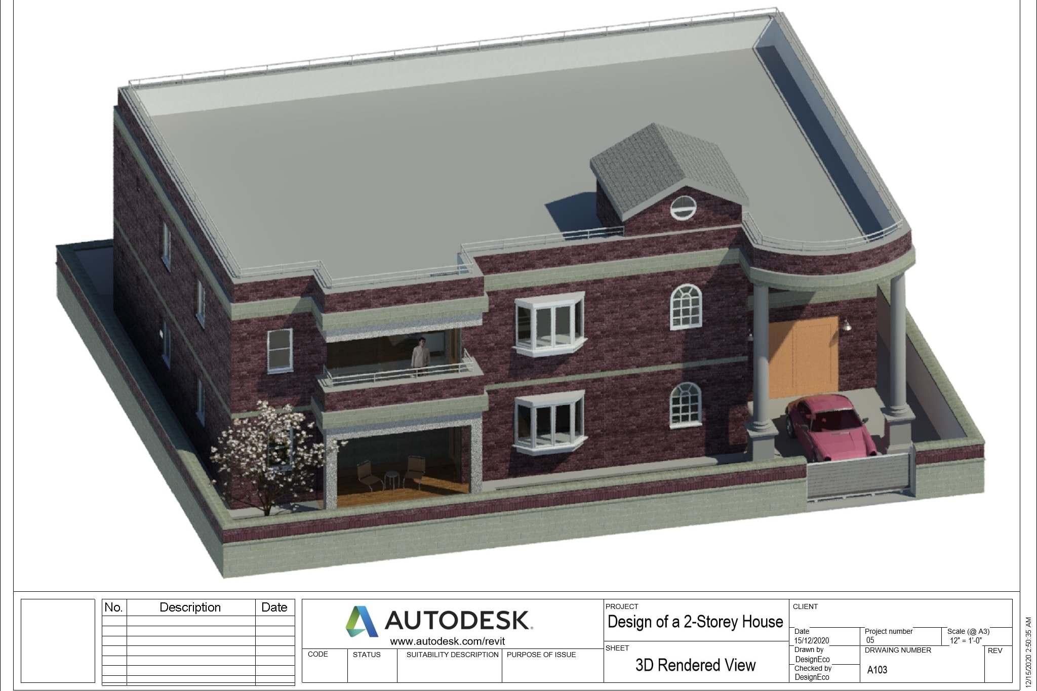 Portfolio for 2D/3D Architectural Modeling