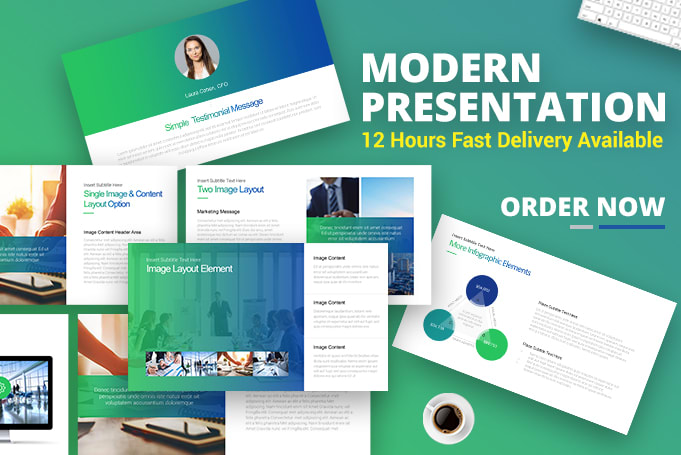 Portfolio for Powerpoint Presentations & keynote