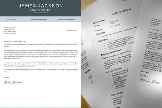 Portfolio for write & review your CV, resume, LinkedIn