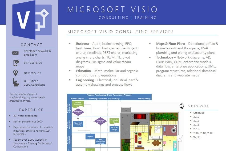 Portfolio for Microsoft Visio Development & Training