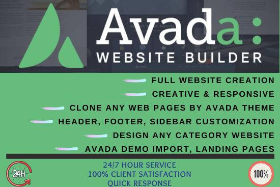 Portfolio for Customize Wordpress Avada Theme