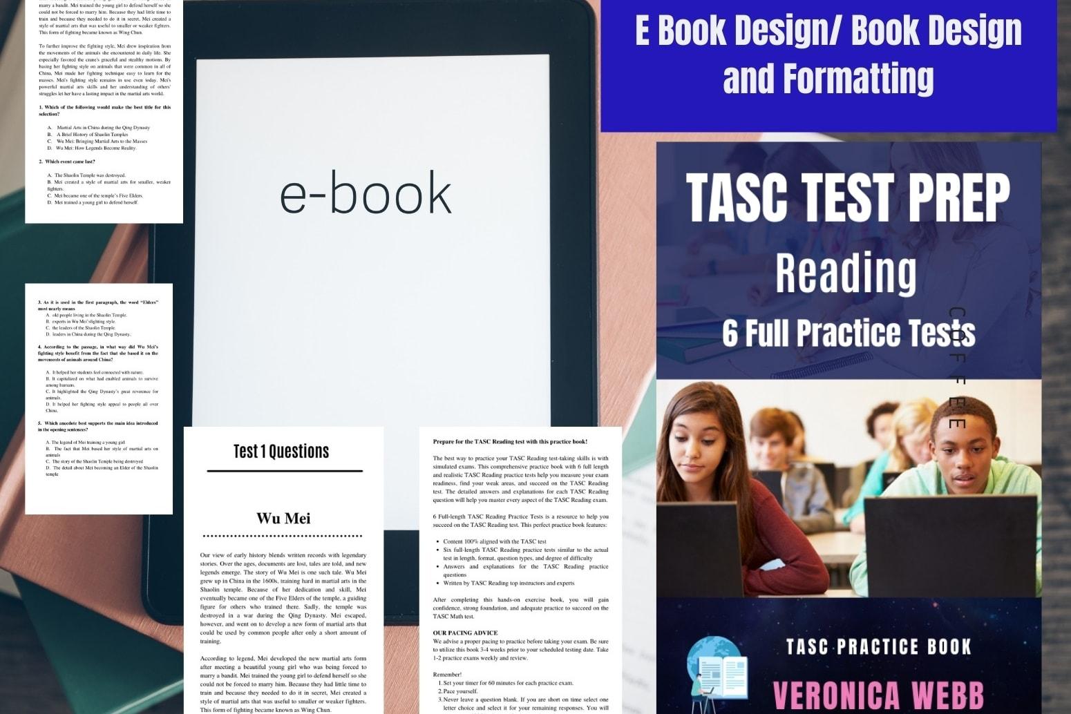 Portfolio for I will design and format your E book