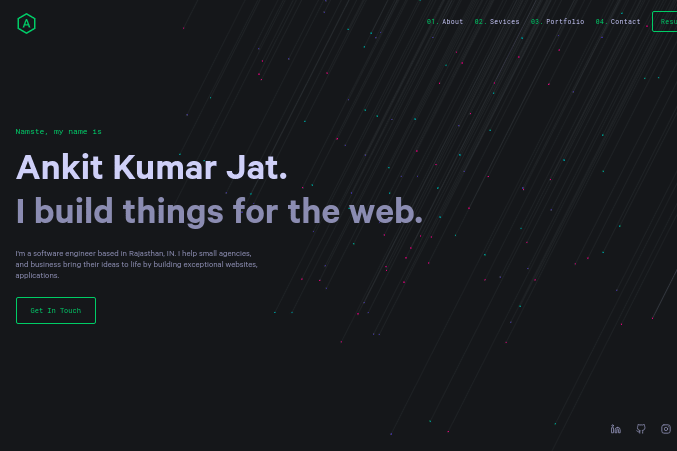 Portfolio for Web Development, I Build websites