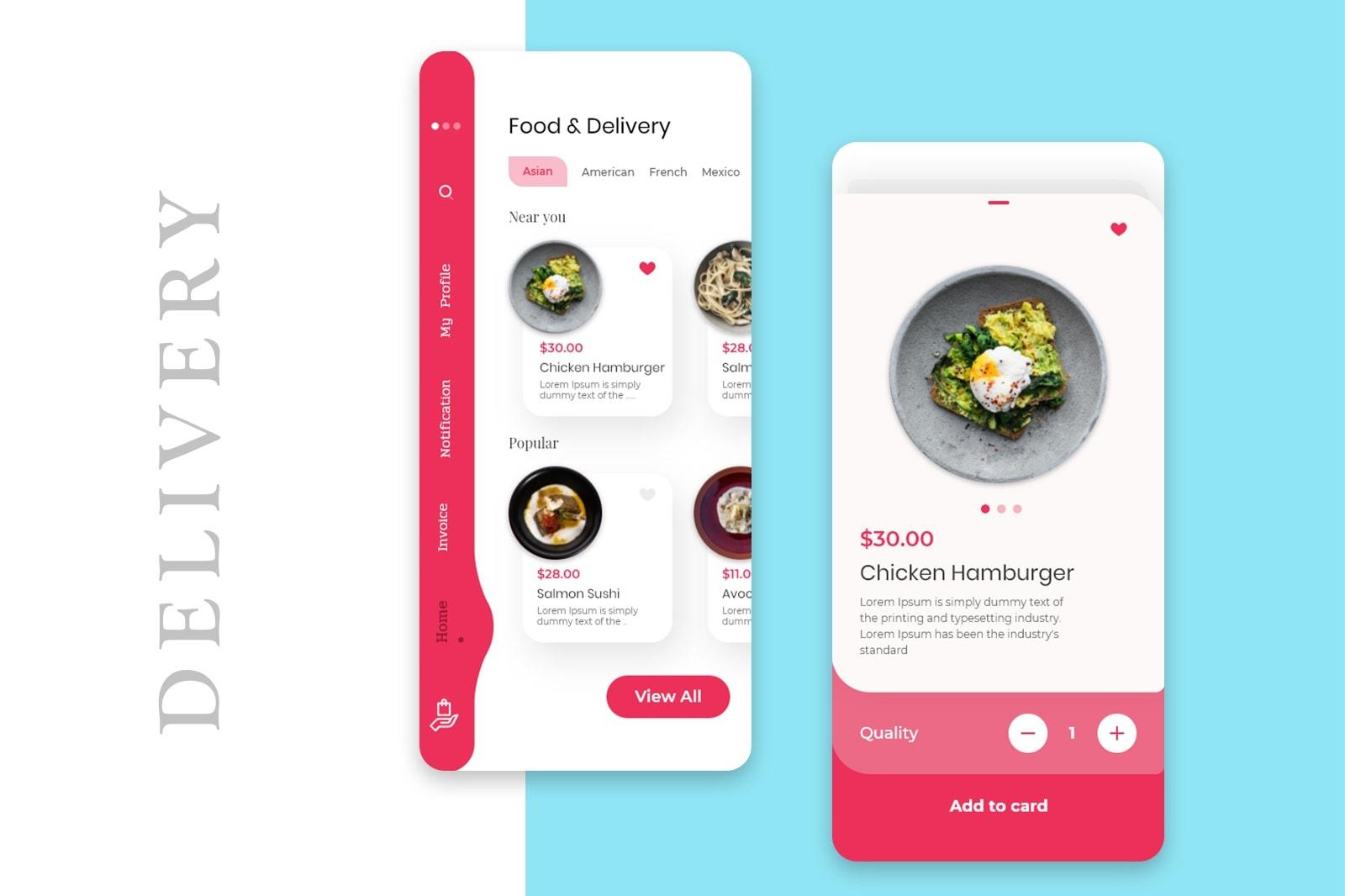 Portfolio for Food Delivery App Design & Development